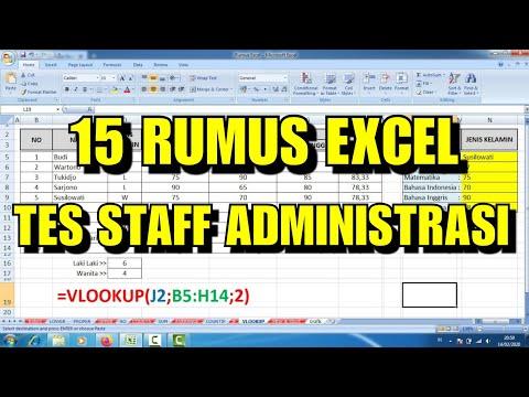 15 Rumus Excel untuk TES Admin Kantor