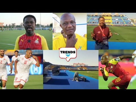 GHANA 🇬🇭 VS TUNISIA 🇹🇳 : DAN KWAKU YEBOAH & ESTHER ABANKWAH- LIVE UPDATE - AFCON 2019, EGYPT