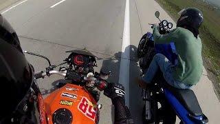 8. Honda Hornet 600 vs Kawasaki Z 750
