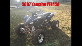 7. First Ride On The New Race Quad!! (2007 Yamaha YFZ450)