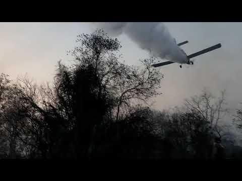 Combate a incêndio na Estância Caiman em Miranda é Operação de Guerra