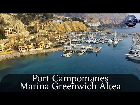 Altea, Mascarat Port Campomanes Marina Greenwich. Drone photos