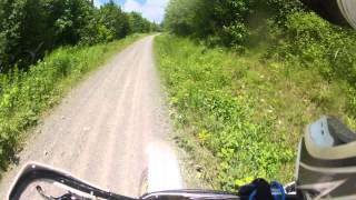8. YZ250 (almost) topped out on logging roads