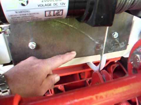 comment installer un treuil sur un v.t.t