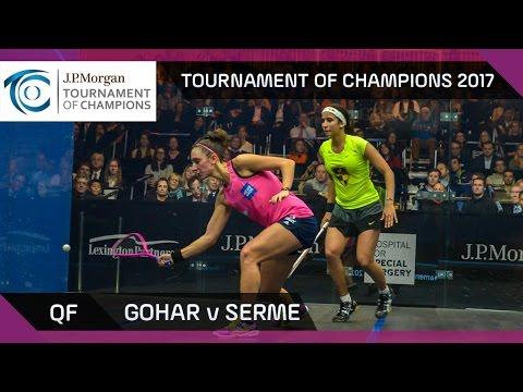 Squash: Gohar v Serme - Tournament of Champions 2017 QF Highlights