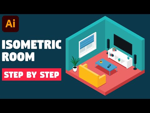 Isometric Room | Illustrator CC Tutorial (STEP BY STEP)