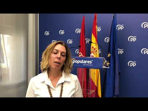 Amelia Salanueva explica el compromiso del PPN con la factoría de Gamesa en Aoiz