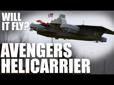 Guys Build Flyable R C Avengers Helicarrier Take Off And Land Planes On