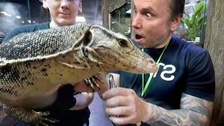 GIANT LIZARD PEDICURE! BEAK TRIM FOR TORTOISE!!  SPA DAY AT REPTILE ZOO! | BRIAN BARCZYK by Brian Barczyk