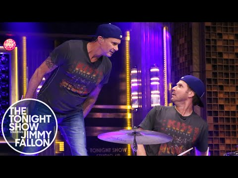drum; - Jimmy officiates Will and Chad's battle for the title of greatest drummer on the Tonight Show that ends in a surprise performance of