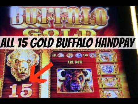 HANDPAY JACKPOT 🎰 ALL 15 GOLD BUFFALO BONUS at River Rock Casino | NorCal Slot Guy