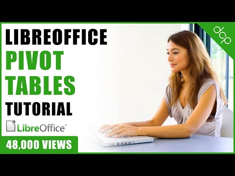 Libre Office Calc - Pivot Table Tutorial - [ Libre Office Beginners Tutorial ]