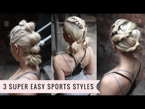 Short hair styles - 3 Easy Sports Styles‍(SHORT OR LONG HAIR) by SweetHearts Hair