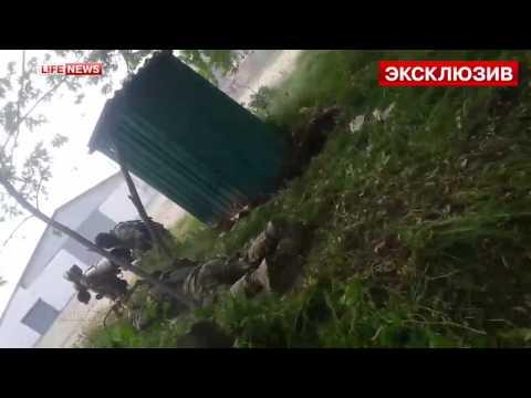 Фрагмент бою, коли терористи застосувати ПТРК проти української бронетехніки