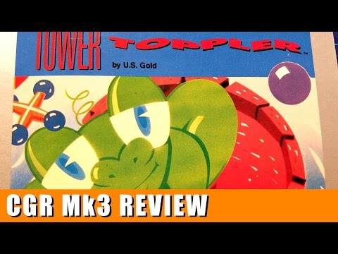 Classic Game Room - TOWER TOPPLER review for Atari 7800