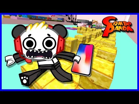 Roblox Cool App Games Escape iPhone X Let's Play with Combo Panda (видео)