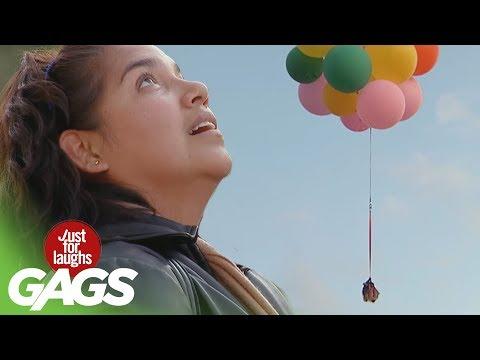 Glume cu baloane (video)