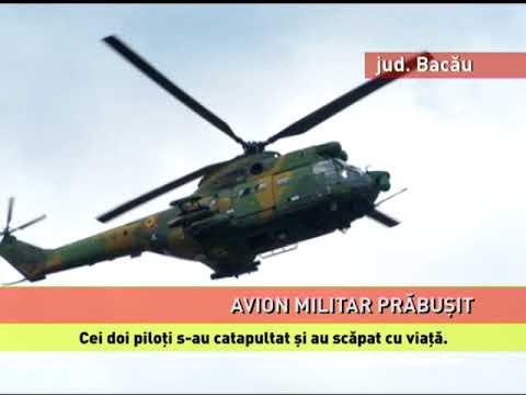 Un avion militar IAR 99 Şoim, prăbușit la Bacău