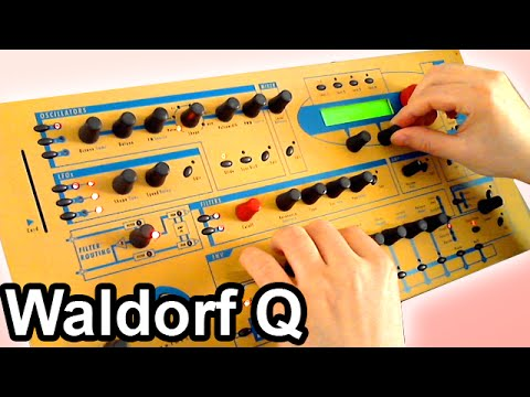 synth - http://www.youtube.com/synth4ever - Waldorf Q synth demo - playing ambient chillout drone music soundscape on Waldorf Q virtual analog / digital synth from W...