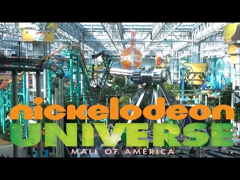 Nickelodeon Universe Theme Park at Mall Of America Tour & Review