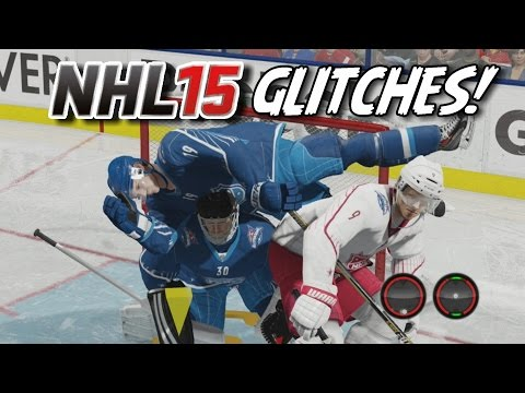 NHL 15 Funny Glitches, Hits & Moments! #5 Goalie Quits, Flying Players, Gigantic Hit!
