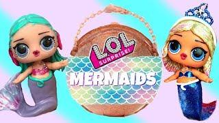 Finding LOL Big Surprise Custom Mermaids with Barbie Mermaid Queen