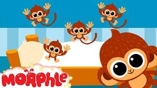 5 little Monkeys jumping on the bed nursery rhyme  -- My Magic Pet Morphle