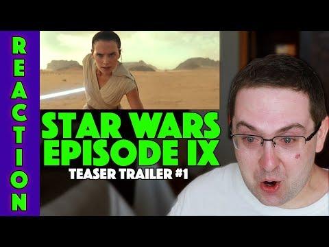 REACTION! Star Wars Episode IX: The Rise of Skywalker - Teaser Trailer #1 - Daisy Ridley Movie 2019