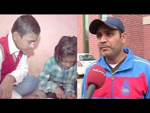 Virender Sehwag turns philanthropist; bats for education 11 March 2014 01 AM