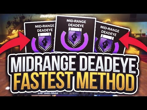 Fastest Method To Get Mid Range Deadeye Hall of Fame - NBA 2K18