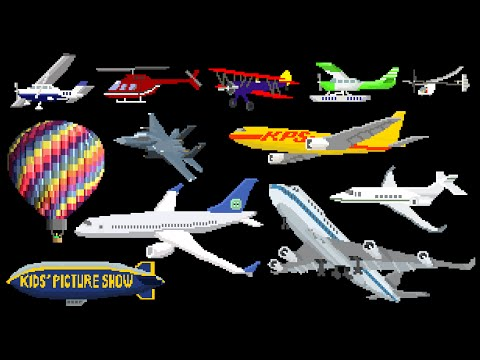 Aircraft – Airplanes / Aeroplanes & Air Vehicles – The Kids' Picture Show (Fun & Educational)