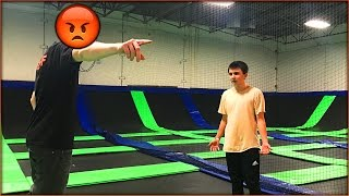 ALONE AT A TRAMPOLINE PARK & THE STAFF WAS MAD! (KICKED OUT!) | David Vlas