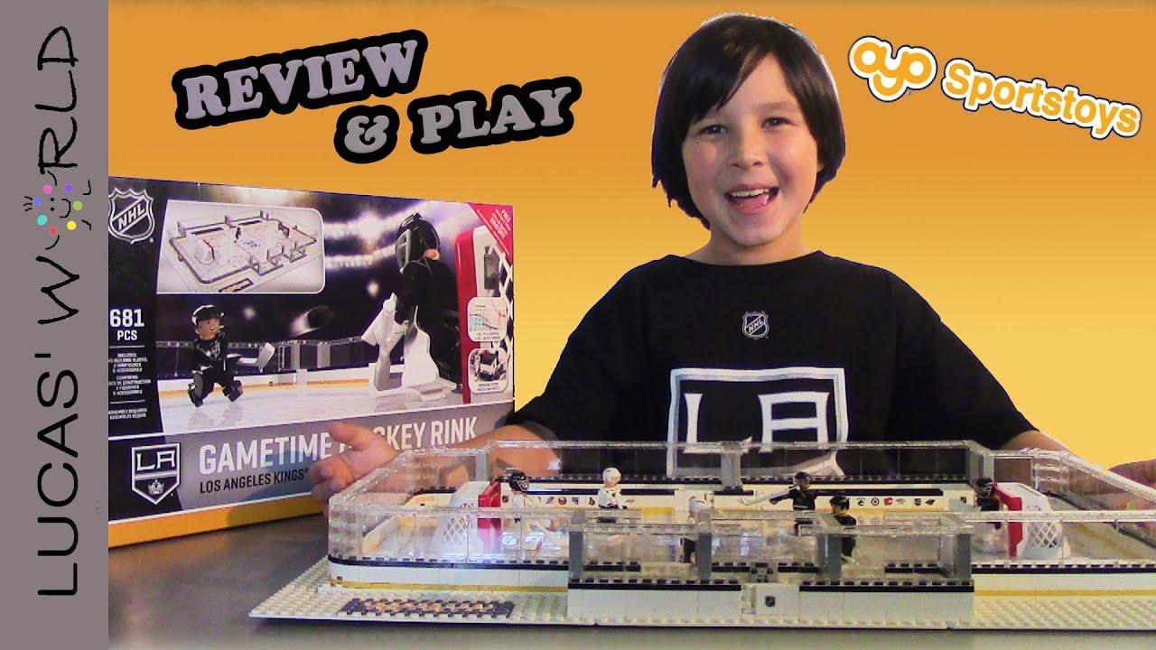 OYO Sports LA Kings NHL GAMETIME Hockey Rink Play Set Review by LUCAS WORLD