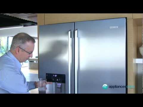 Electrolux's 600L ESE6077SF side by side fridge with ice water dispenser - Appliances Online
