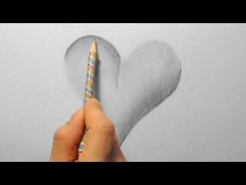 3D Herz, zeichnen im Zeitraffer (3D Heart, drawing in fast motion) [HD]