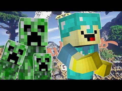 ZLÝ IRON GOLEM? - Minecraft Creeper Attack