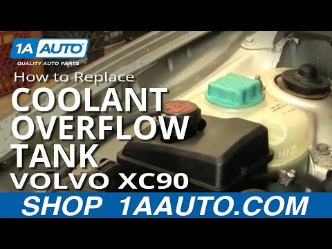 How To Install Replace Radiator Coolant Overflow Bottle Tank Volvo XC90 03-12 1AAuto.com