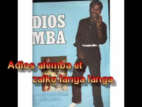 Adios Alemba et zaiko langa langa dans 