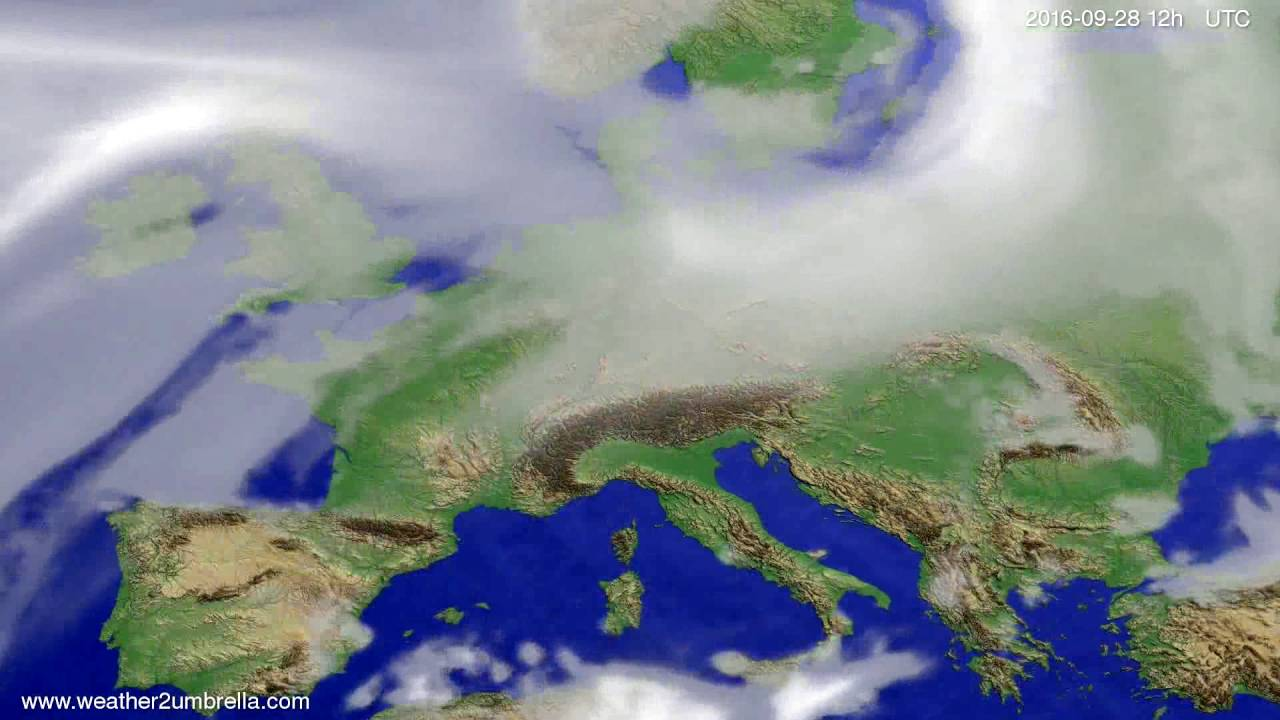 Cloud forecast Europe 2016-09-26