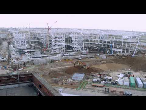 Trabajos de construcción en la nueva T2 de Heathrow
