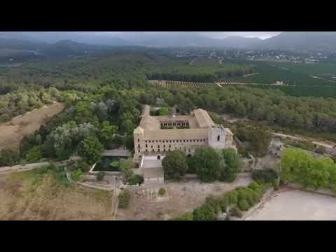 Monasterio de Sant Jeroni de Cotalba, vuelo interior y exterior con drone Phantom 4