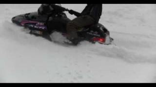 2. Snowmobiler BLOWS engine during donut display...in HD
