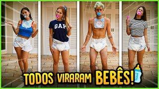 TODOS DA CASA VIRARAM BEBÊS POR 24H!! [ REZENDE EVIL ]