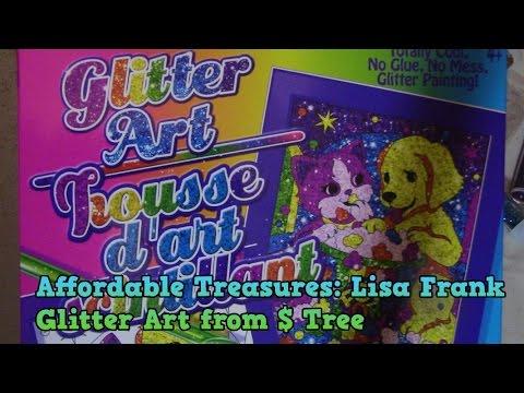 Affordable Treasures: Lisa Frank Glitter Art