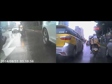 20171013 機車騎士 自摔