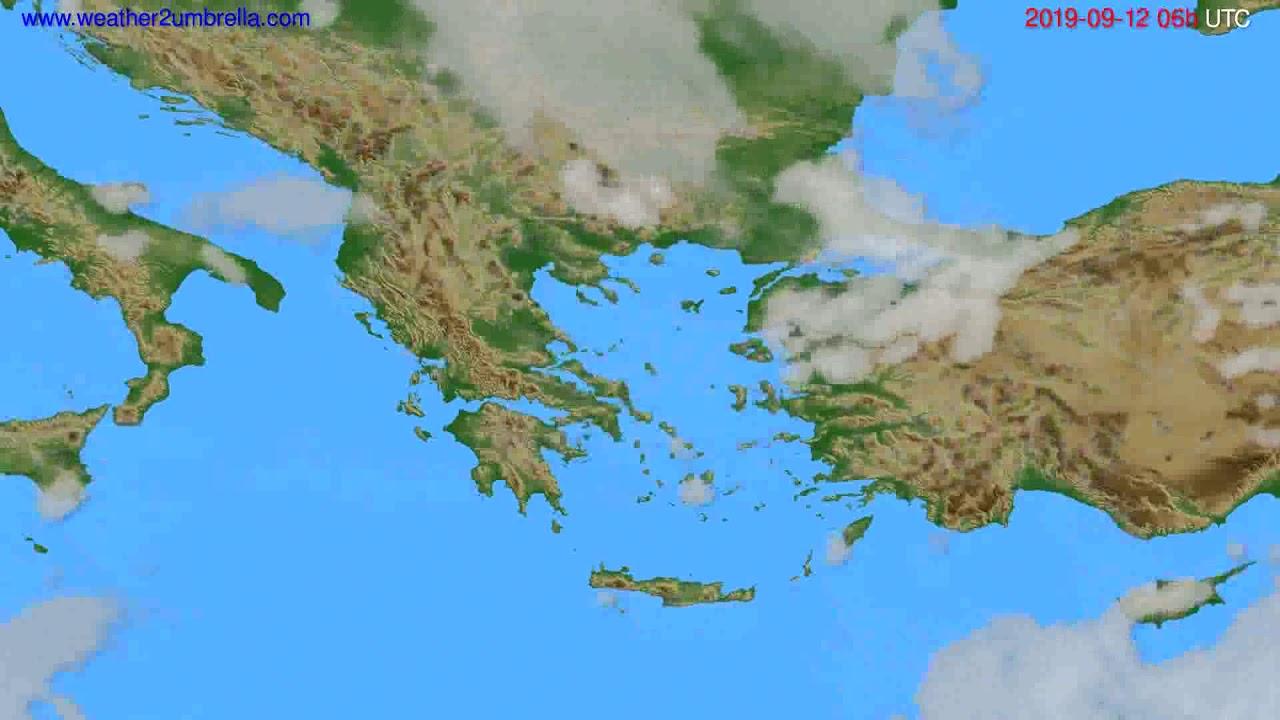 Cloud forecast Greece // modelrun: 00h UTC 2019-09-10