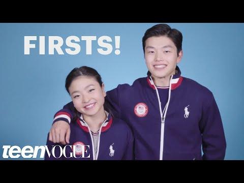 Maia and Alex Shibutani, Ice Dancing Siblings, Talk Firsts | Teen Vogue (видео)