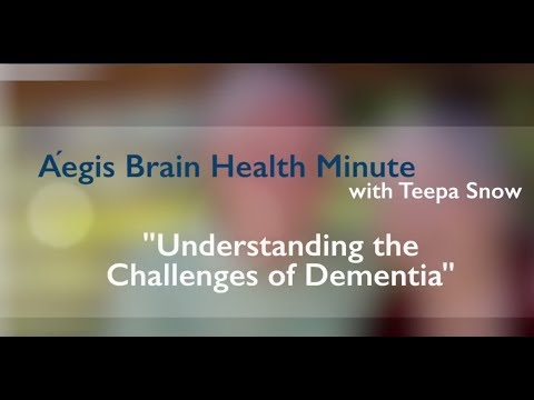 Aegis Living Brain Health Minute with Teepa Snow #1 of 3