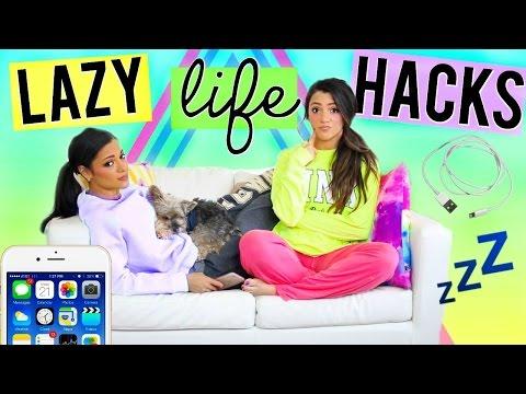 DIY Life Hacks EVERY Lazy Girl NEEDS to Know! Life Hacks for Lazy People! Niki and Gabi