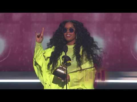 H.E.R. Wins Best R&B Album presented by BTS  2019 GRAMMYs Acceptance Speech
